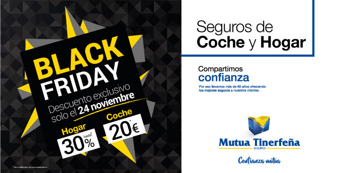 Más ofertas de 'Black Friday', esta vez con Mutua Tinerfeña