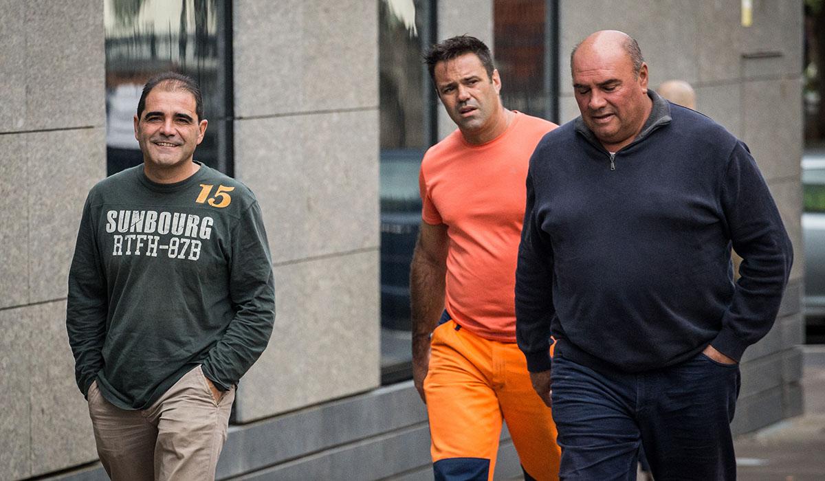 Esteban Hernández, José Luis Conde y Felipe Casanova. Foto Andrés Gutiérrez