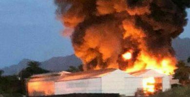 Controlado el incendio declarado en un invernadero en Tacoronte