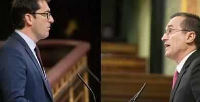 Lavandera, diputado del PSOE, y Ruano, portavoz de CC. DA