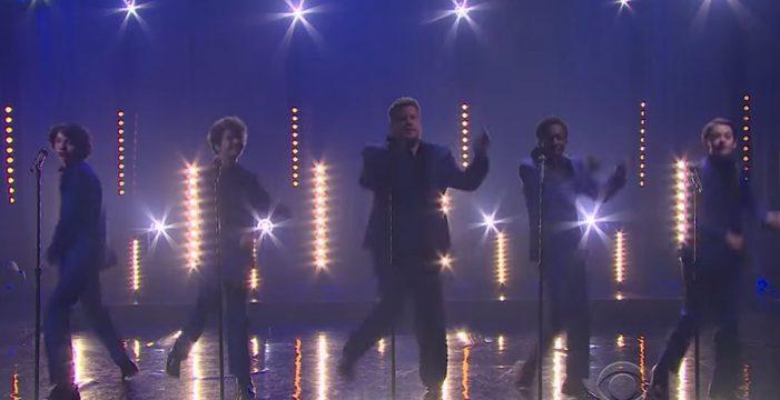 Los protagonistas de Stranger Things sorprenden cantando con James Corden