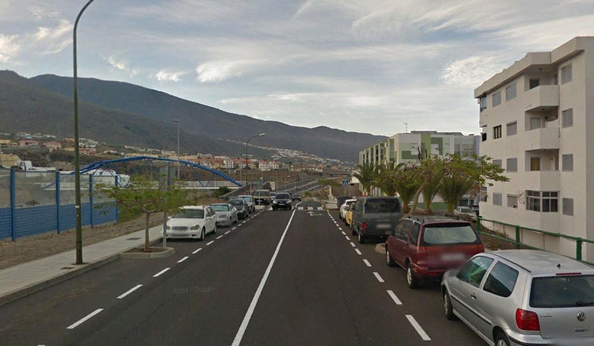 Calle de los Frailes Dominicos, en Candelaria (Tenerife). Google Earth
