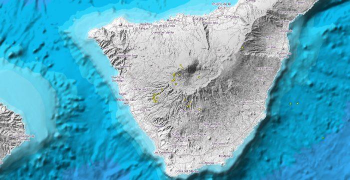 28 terremotos desde el lunes en torno al Teide y Pico Viejo