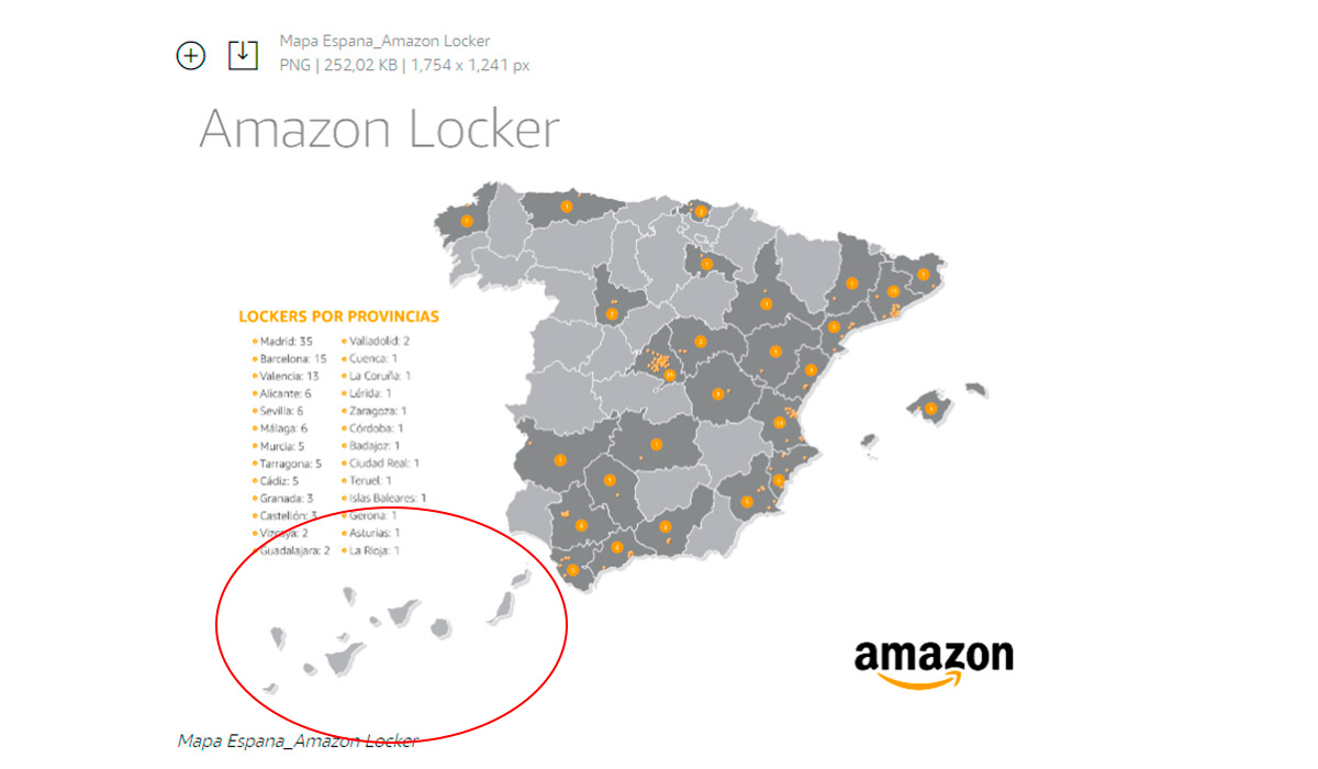 AMAZON MAPA CANARIAS