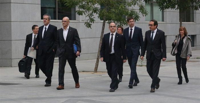 Los líderes del desafío independentista catalán, ante la Justicia