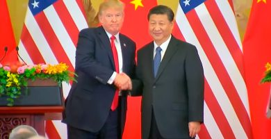 DONALD TRUMP Y XI JINPING CHINA EEUU