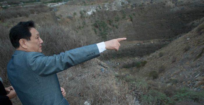 El empresario chino Marco Wang prevé desaladoras y hoteles de lujo en los barrancos de Güímar