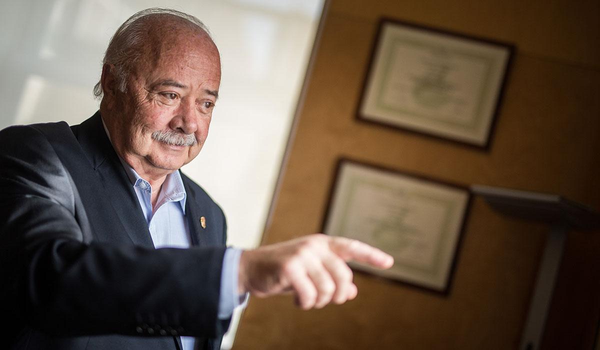 Ricardo Melchior, en su etapa de presidente de la Autoridad Portuaria de Santa Cruz de Tenerife / DA