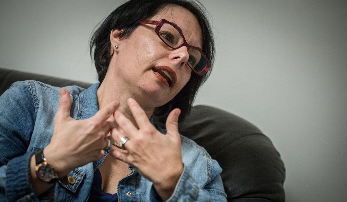 María Rosa Henríquez, coordinadora de la Fundación Cruz Blanca en Tenerife. Andrés Gutiérrez