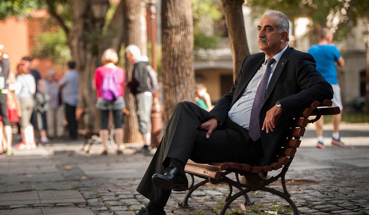 Marwan Burini, consejero de la misión diplomática de Palestina en España. Fran Pallero