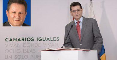 El comisionado contra la pobreza, Santiago Rodríguez; en el recuadro, José Moreno. TeldeActualidad