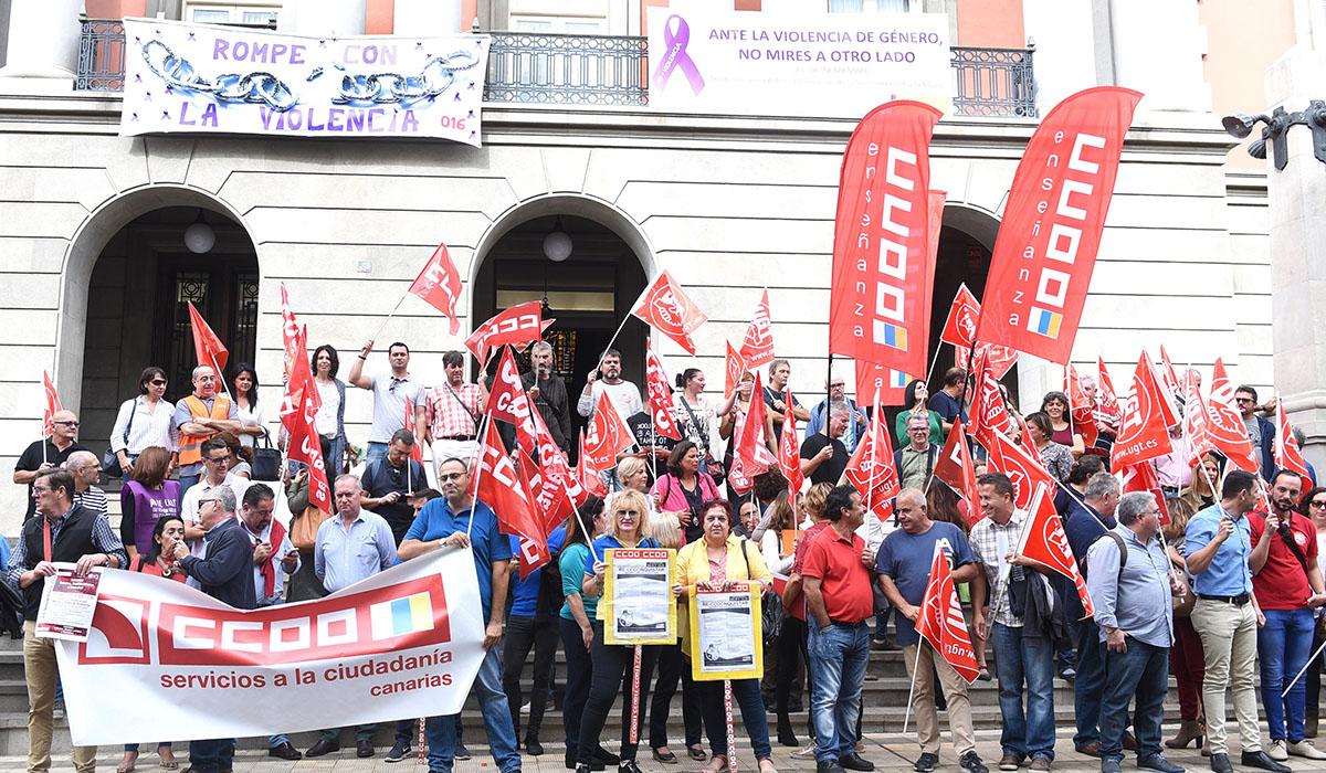 Concentración sindical en Santa Cruz de Tenerife. Sergio Méndez