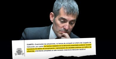 Fernando Clavijo se enfrenta a posibles acusaciones por prevaricación, malversación y tráfico de influencias
