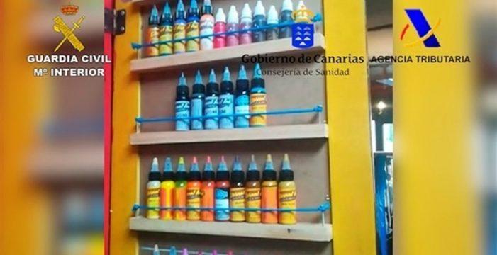 Desarticulada en Canarias una red que distribuía botes de tinta no autorizados para tatuajes