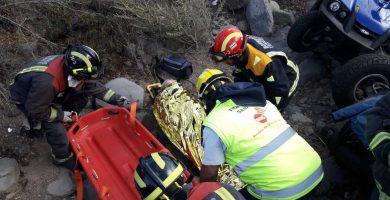 Herida tras un accidente con un quad en Vilaflor, en Tenerife