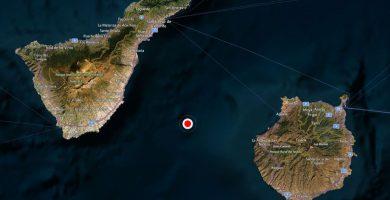 Temblor de magnitud 3,1 entre Tenerife y Gran Canaria