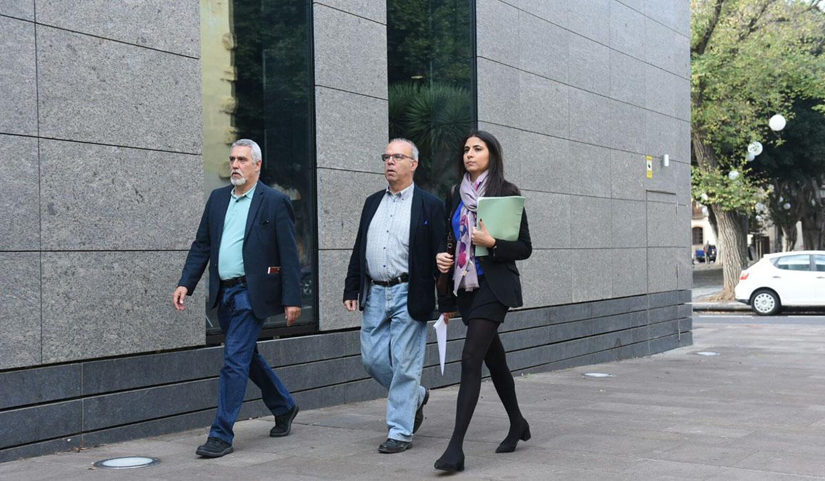 Pérez Godiño a su llegada al Juzgado de La Laguna. Sergio Méndez