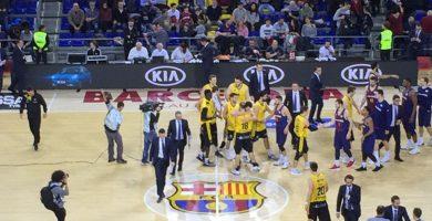 Victoria histórica para los aurinegros en el Palau Blaugrana