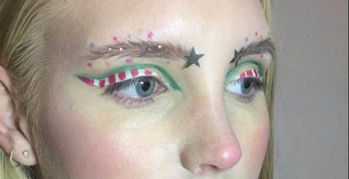 Lo último en moda: decoración navideña para tus cejas