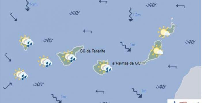 Anuncian lluvias en las islas más montañosas y temperaturas en descenso