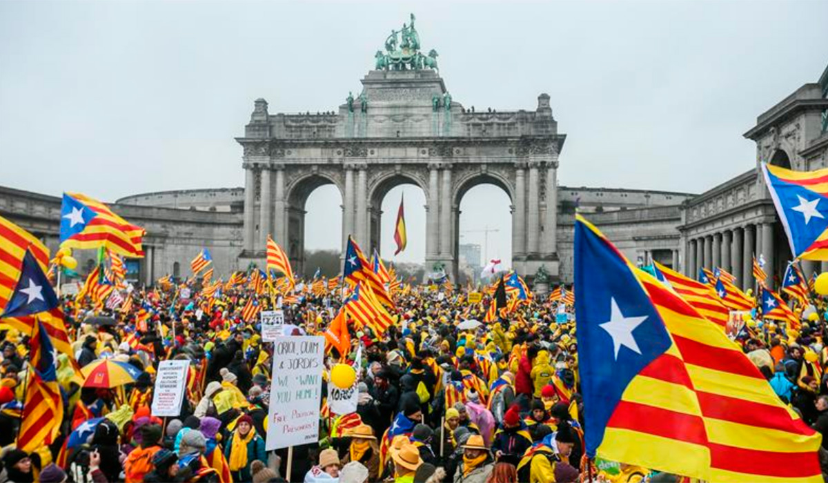 MARCHA INDEPENDENCIA CATALUÑA BRUSELAS
