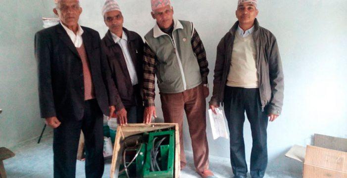 Cooperación Internacional Dona Vida lleva el primer molino de gofio a Nepal