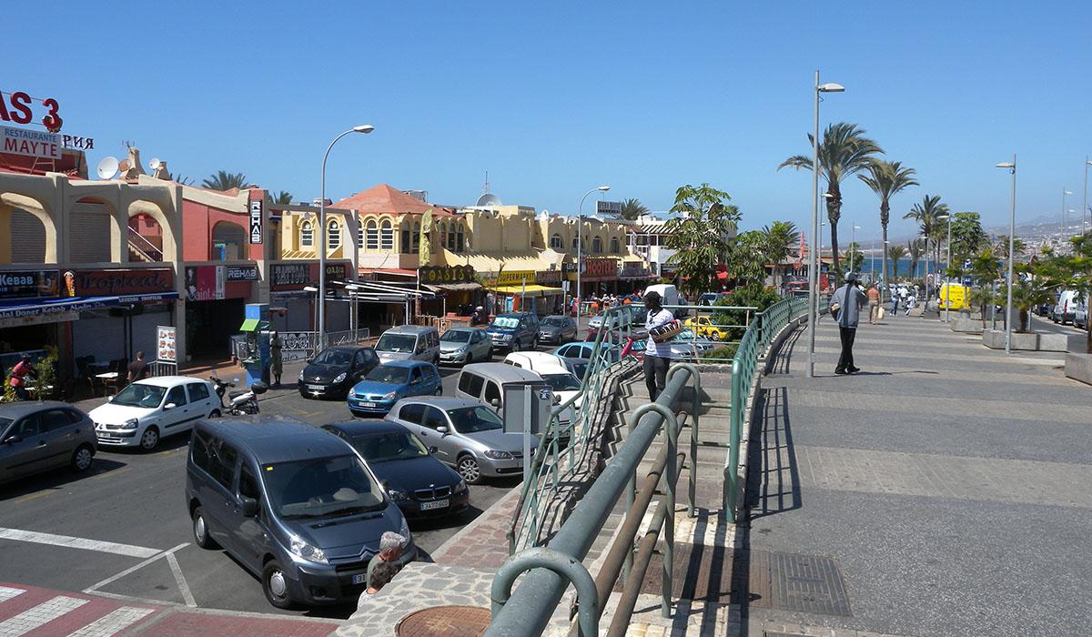 Zona de Las Verónicas, en Playa de Las Américas (Arona). DA