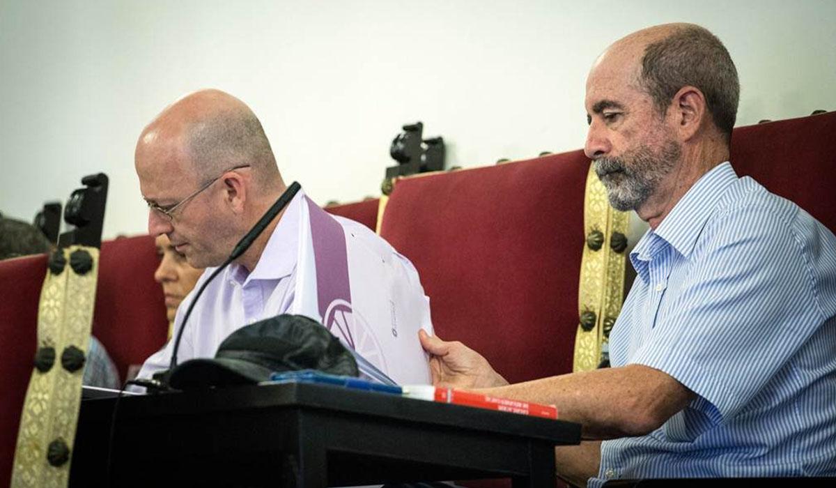Los concejales laguneros de Por Tenerife-Nueva Canarias Juan Luis Herrera y Santiago Pérez. Andrés Gutiérrez