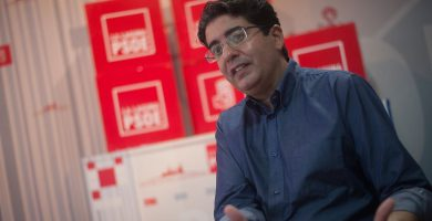 Pedro Martín, durante en un acto de campaña para la votación del 12 de noviembre. Fran Pallero