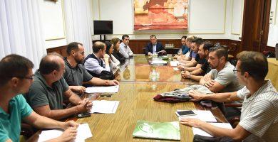 José Manuel Bermúdez presidió la reunión con los sindicatos policiales, que se alargo más de tres horas. S. M.