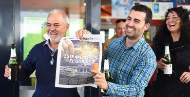 José Miguel González y su hijo José ya apostaban por que este año les caería el Gordo. Sergio Méndez