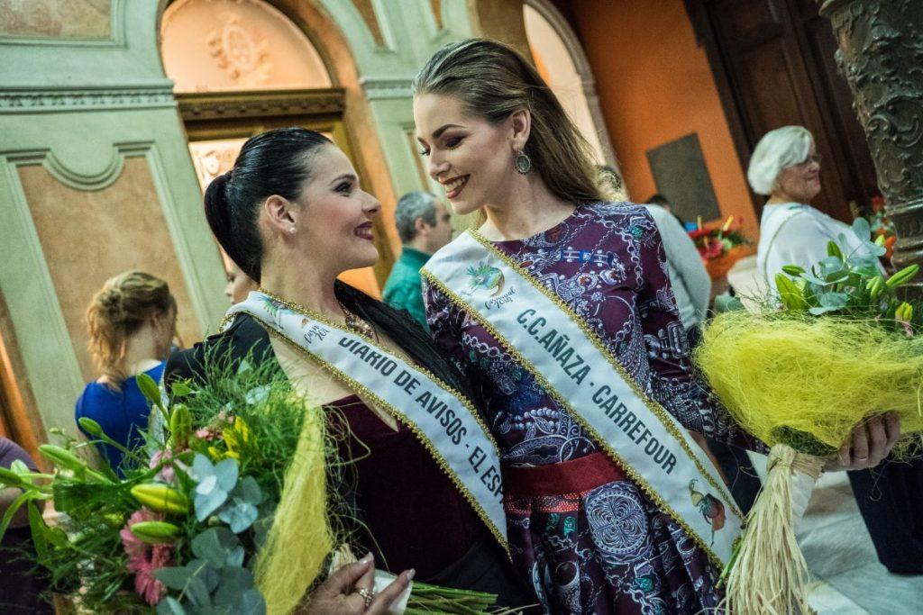Saida Prieto, junto a otras candidatas a Reina del Carnaval de Santa Cruz 2018 | Foto: Andrés Gutiérrez