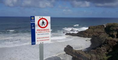 Oleaje en la costa de La Orotava. / Seguridad La Orotava