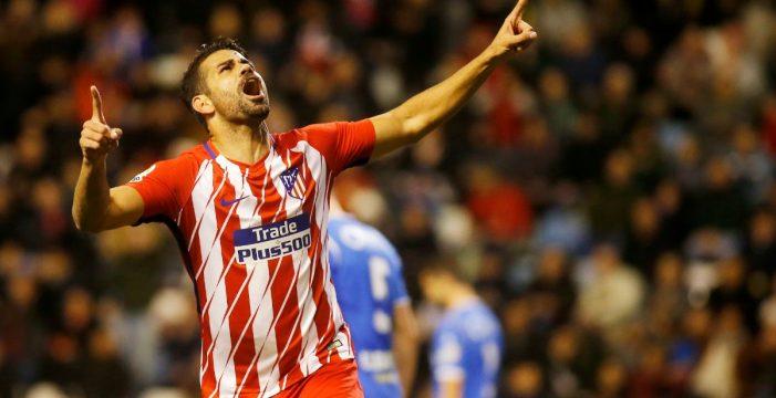 El Atlético liquida al Lleida en la vuelta con gol de Diego Costa
