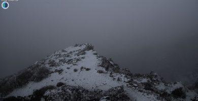 La zona del Roque de los Muchachos, cubierta de nieve. / Sky Live