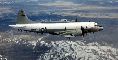 Un avión P3B Orion, de la Marina estadounidense. / Ahora.Plus
