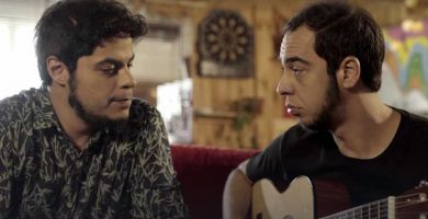 David Sainz y Aarón Gómez, protagonistas de la serie web 'Mambo'. DA