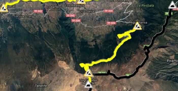 Cerrados los accesos al Teide por hielo en la calzada