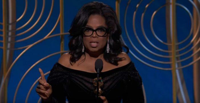 Oprah Winfrey emociona a todos con su discurso y ya suena para presidenta de EEUU