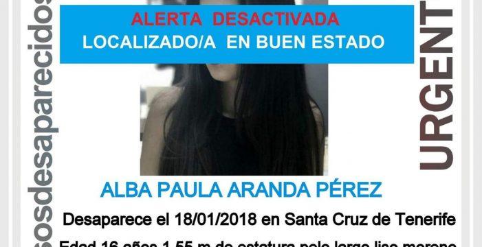 Aparece la chica de 16 años desaparecida en Tenerife