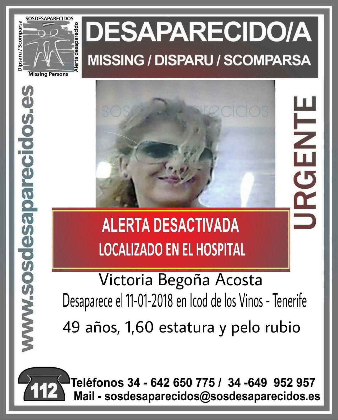 DESAPARECIDA ICOD 2018 LOCALIZADA
