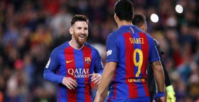 Messi y Suárez celebran un gol en una imagen de archivo. / EP