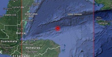 Mapa de la zona en la que se ha producido el terremoto. / EP