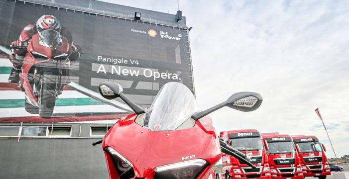Shell V-Power suministrador en la presentación de la nueva Ducati Panigale V4