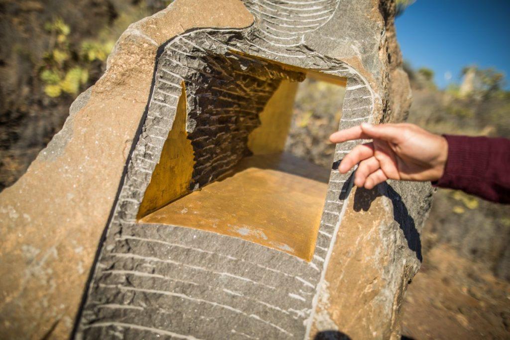 Alma de guanche, bañada en oro, de Norbert Jager. Andrés Gutiérrez