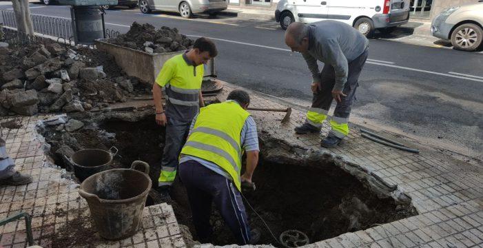 La rotura de una tubería deja sin agua a 2.000 vecinos de La Guancha durante varias horas