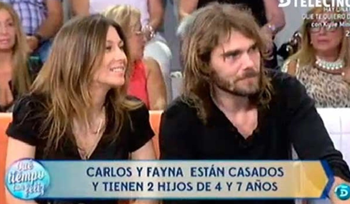 Fayna Bethencourt y Carlos Navarro, el Yoyas, durante un programa de televisión emitido hace cuatro años. Europa Press