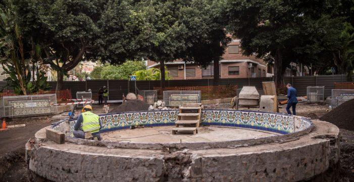 La obra de la plaza de Los Patos saca a la luz una antigua galería para agua de lluvia