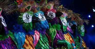Los murgueros de la Casa del Miedo presentaron este año a concurso la fantasía Del Carnaval de Río... me río. Fran Pallero