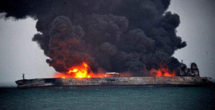 Crisis medioambiental en China tras el hundimiento de un petrolero